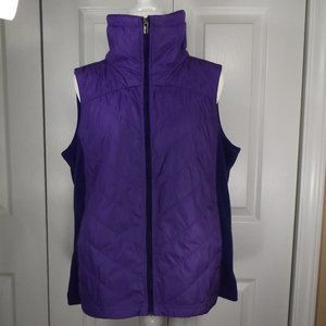Columbia Purple Semi Quilted Insulated Vest XL